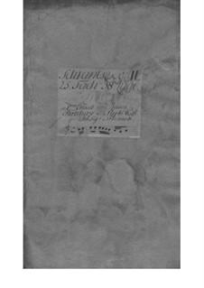 Трио-соната для скрипки, флейты (или скрипки II) и бассо континуо, TWV 42:A2: Партии by Георг Филипп Телеманн