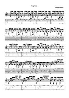 Двадцать четыре этюда для гитары, Op.100: Этюд No.11 Каприччио – табулатура by Мауро Джулиани
