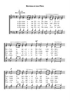 Reviens à ton Père pour choeur: Reviens à ton Père pour choeur by Philip Paul Bliss