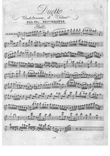 Дуэт для скрипки и флейты: Дуэт для скрипки и флейты by Франц Антон Хофмайстер