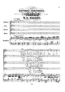 The Repentant David, K.469: Для хора и фортепиано by Вольфганг Амадей Моцарт