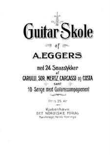 Школа игры на гитаре: Школа игры на гитаре by Адольф Юлиус Эггерс