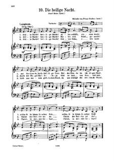 Тихая ночь (ноты для скачивания): Для голоса и фортепиано by Франц Ксавьер Грубер