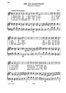 Zu Lauterbach: Für Stimme und Klavier by folklore