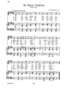 Jägers Nachtlied: Jägers Nachtlied by Иоганн Фридрих Рейхардт