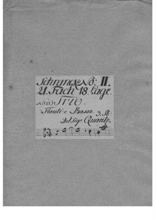 Трио-соната для двух флейт и бассо континуо ми минор, QV 2:Anh.12a: Трио-соната для двух флейт и бассо континуо ми минор by Иоганн Иоахим Квантц