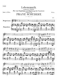 Lebensmut (Unvollendet), D.937: Lebensmut (Unvollendet) by Франц Шуберт