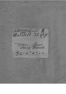 Соната для скрипки и бассо континуо фа-диез минор, TWV 41:fis2: Соната для скрипки и бассо континуо фа-диез минор by Георг Филипп Телеманн