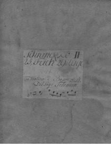 Трио-соната для скрипки, гобоя и бассо континуо соль минор, TWV 42:g12: Трио-соната для скрипки, гобоя и бассо континуо соль минор by Георг Филипп Телеманн