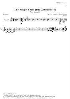 Вражда и месть нам чужды: Партия валторн in E by Вольфганг Амадей Моцарт