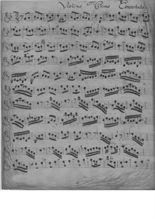 Концерт для скрипки, струнных и бассо континуо соль минор, TWV 51:g1: Партии by Георг Филипп Телеманн