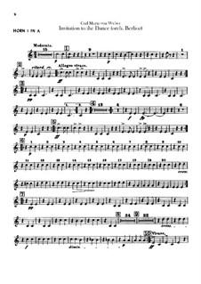 Приглашение к танцу, J.260 Op.65: Для оркестра – партии валторн by Карл Мария фон Вебер