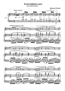 O mio babbino caro: Для флейты и фортепиано by Джакомо Пуччини