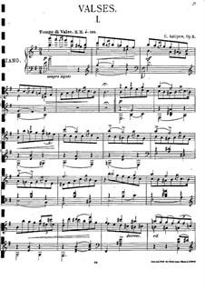 Три вальса для фортепиано, Op.2: Три вальса для фортепиано by Константин Антипов