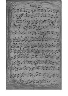 Концерт для скрипки, струнных и бассо континуо ля минор, TWV 51:a2: Партии by Георг Филипп Телеманн