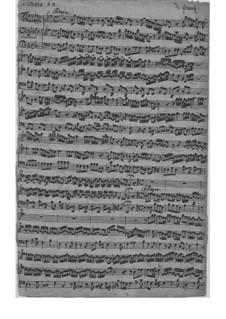 Трио-соната для скрипки, флейты и бассо континуо ми минор, QV 2:21: Партитура by Иоганн Иоахим Квантц