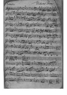 Трио-соната для двух скрипок и бассо континуо ми-бемоль мажор, TWV 42:Es1: Трио-соната для двух скрипок и бассо континуо ми-бемоль мажор by Георг Филипп Телеманн