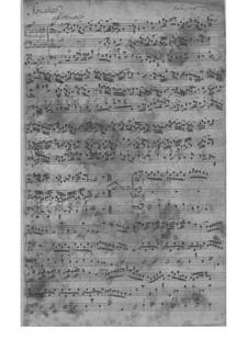 Трио-соната для скрипки, флейты и бассо континуо, TWV 42:G12: Партитура by Георг Филипп Телеманн