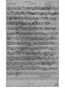 Трио-соната для скрипки, флейты и бассо континуо, TWV 42:G12: Партии by Георг Филипп Телеманн