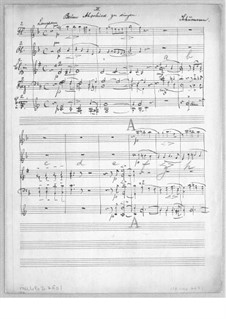 На прощанье, Op.84: Партитура by Роберт Шуман