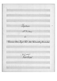 Септет для духовых и струнных No.3 до мажор, Op.30: Партии by Теодор Бернхард Сик