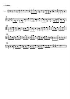 Концерт для струнных до мажор: Часть II (Адажио) – партия альта by Томазо Альбинони