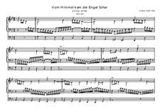 Vom Himmel kam der Engel Schar, BWV 607: Für Orgel by Иоганн Себастьян Бах