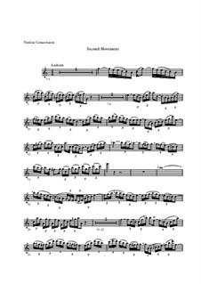 Концерт для скрипки, струнных и бассо континуо No.1 ля минор, BWV 1041: Часть II – сольная партия by Иоганн Себастьян Бах