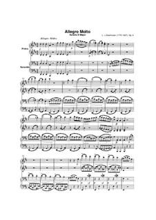 Соната для фортепиано в четыре руки ре мажор, Op.6: Партитура и партии by Людвиг ван Бетховен
