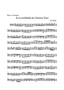 Sie werden euch in den Bann tun, BWV 44: Arie 'Es ist und bleibt, der Christen Tros' – Basso Continuo Stimme by Иоганн Себастьян Бах