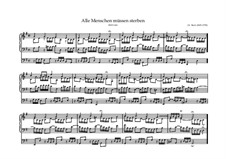 Alle Menschen müssen sterben, BWV 643: For organ by Иоганн Себастьян Бах