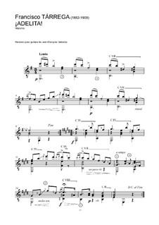 Аделита: Для гитары (ноты высокого качества) by Франсиско Таррега