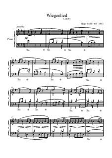 Колыбельная: Для фортепиано by Хуго Вольф
