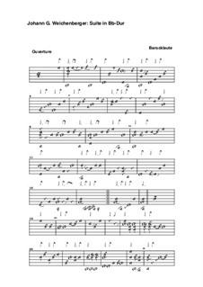 Сюита си-бемоль мажор: Сюита си-бемоль мажор by Johann Georg Weichenberger