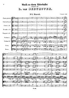Музыка к балету, WoO 1: Музыка к балету by Людвиг ван Бетховен