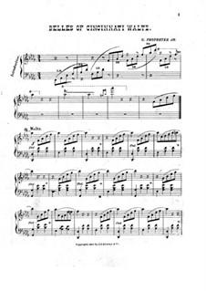 Belles of Cincinnati Waltz: Belles of Cincinnati Waltz by G. Propheter Jr.
