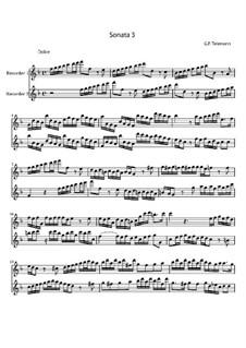 Соната для двух блокфлейт фа мажор, TWV 40:103: Соната для двух блокфлейт фа мажор by Георг Филипп Телеманн