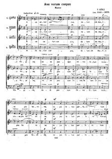 Ave verum corpus: Вокальная партитура by Уильям Бёрд