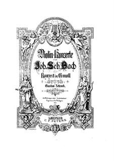 Концерт для клавесина и струнных No.5 фа минор, BWV 1056: Переложение для скрипки с оркестром (соль минор) by Иоганн Себастьян Бах