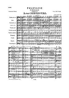 Полонез для военного оркестра, WoO 21: Партитура by Людвиг ван Бетховен