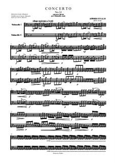 Концерт для двух виолончелей и струнных соль минор, RV 531: Сольная партия by Антонио Вивальди