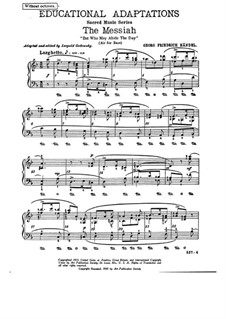 No.6 И кто выдержит день пришествия Его: Для фортепиано by Георг Фридрих Гендель