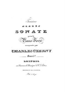 Соната для фортепиано No.3 фа минор, Op.57: Соната для фортепиано No.3 фа минор by Карл Черни