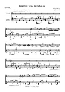 Вокализ-этюд в форме хабанеры, M.51: Для виолончели и гитары by Морис Равель