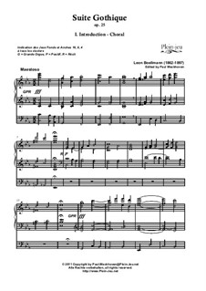 Choral, Menuet Gothique, Prière à Notre Dame, Op.25: Choral, Menuet Gothique, Prière à Notre Dame by Леон Боэльман