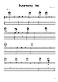 Ярмарка в Скарборо: Для гитары by Unknown (works before 1850)