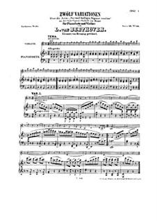 Двенадцать вариаций на тему 'Se vuol ballare', WoO 40: Двенадцать вариаций на тему 'Se vuol ballare' by Людвиг ван Бетховен