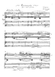 Романсеро: Для двух фортепиано в 4 руки by Михаил Гоголин