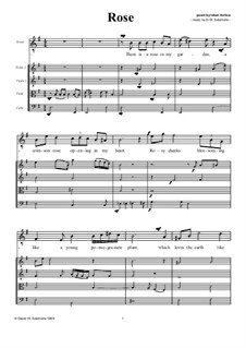 Rose: For tenor or soprano with strings by Дэвид Соломонс