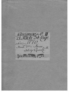 Трио-соната для скрипки, флейты и бассо континуо ми минор, QV 2:20: Трио-соната для скрипки, флейты и бассо континуо ми минор by Иоганн Иоахим Квантц